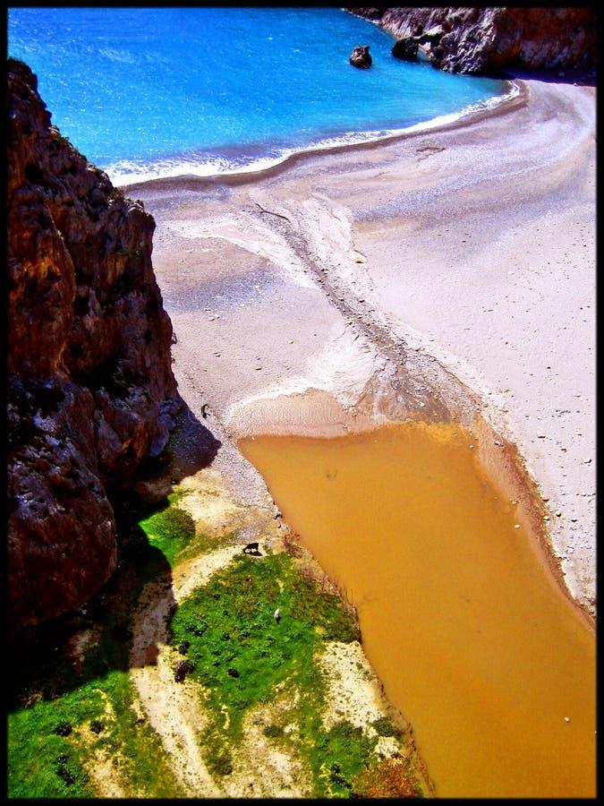 Praia de surpresa de Agiofarago foto de stock royalty free