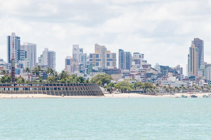 Praia de Tambau, PB Brasil de Joao Pessoa fotografia de stock royalty free