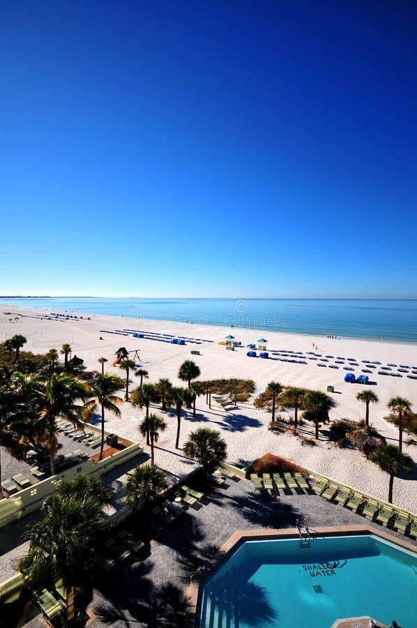 Praia de Tampa foto de stock
