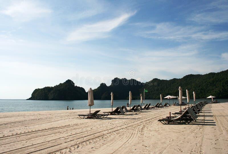 Praia de Tanjung Rhu no console de Langkawi fotografia de stock royalty free