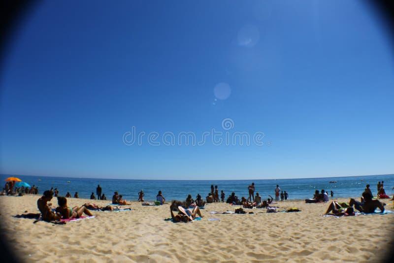 Praia de Tavira imagens de stock royalty free