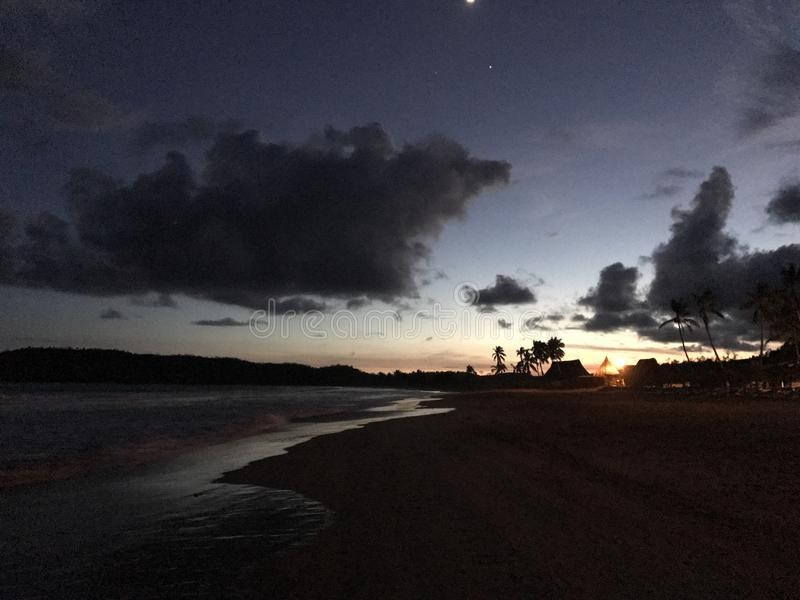 Praia de Tenacatita foto de stock