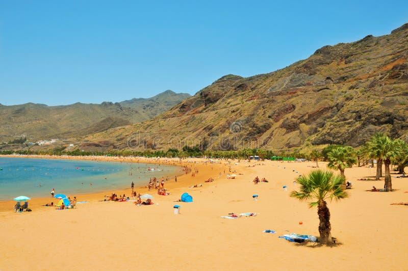 Praia de Teresitas em Tenerife, Ilhas Canárias, Spain imagens de stock