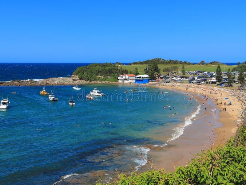 Praia de Terrigal do cenário do verão imagens de stock royalty free
