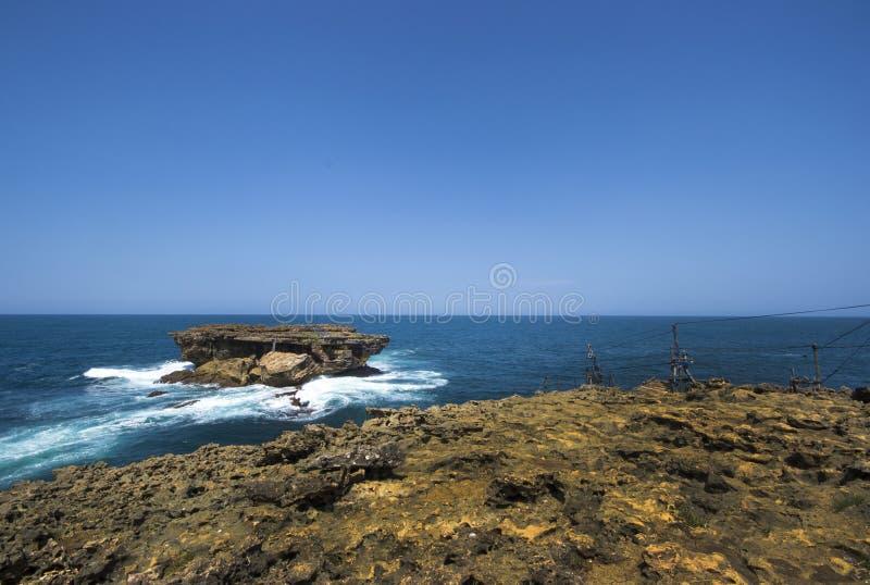 Praia de Timang, Jogjakarta, Indonésia foto de stock