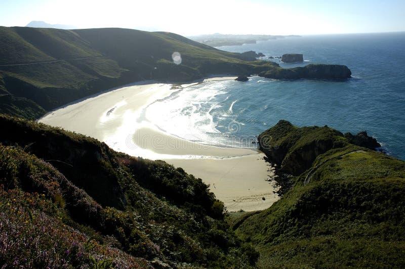 Praia de Torimbia fotografia de stock