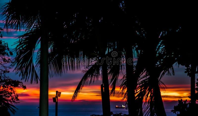 Praia de Tulum México imagens de stock
