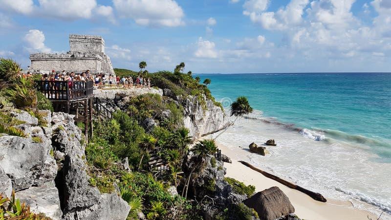 Praia de Tulum, México fotografia de stock royalty free