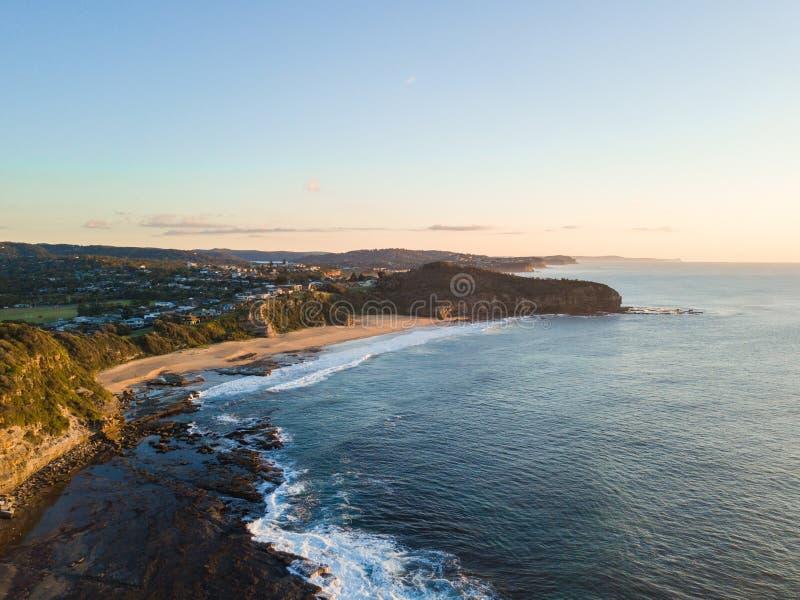 Praia de Turimetta, Sydney imagem de stock royalty free
