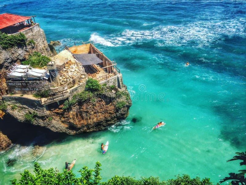 Praia de Uluwatu fotos de stock royalty free