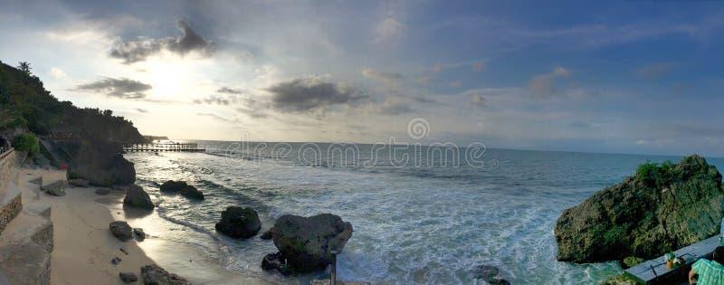 Praia de Uluwatu, Ayana, Bali imagens de stock