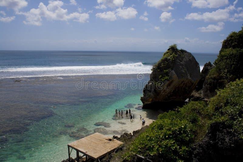 Praia de Uluwatu, bali foto de stock royalty free