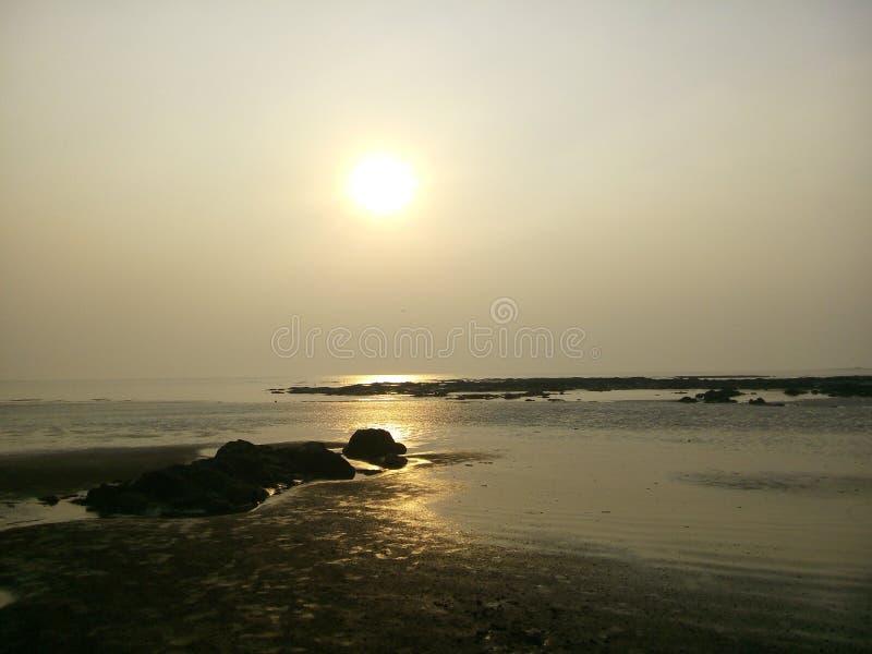 Praia de Uttan foto de stock