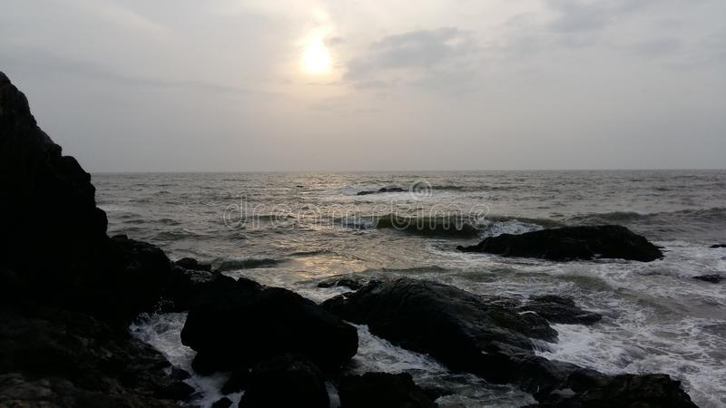Praia de Vagator, Goa imagem de stock royalty free