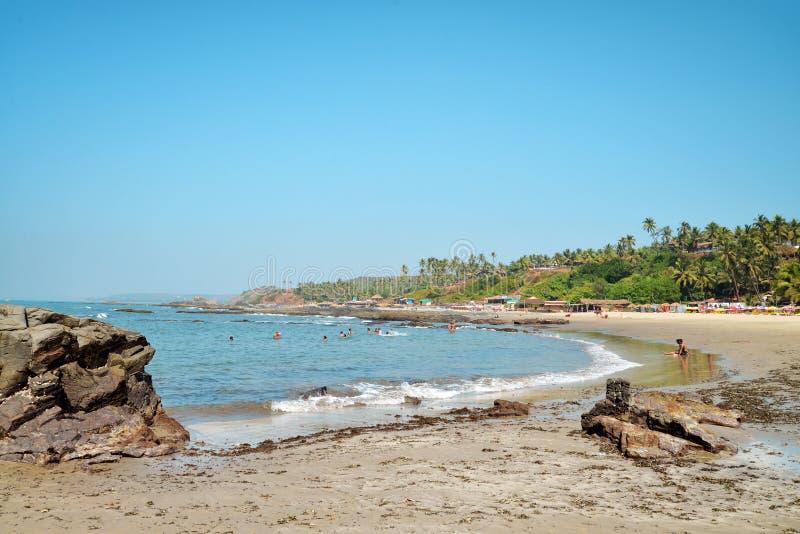 Praia de Vagator na Índia fotografia de stock royalty free