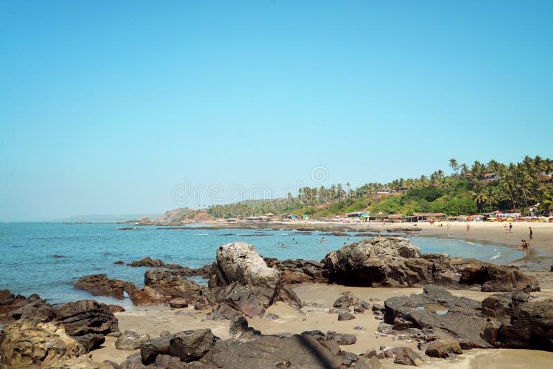 Praia de Vagator na Índia foto de stock