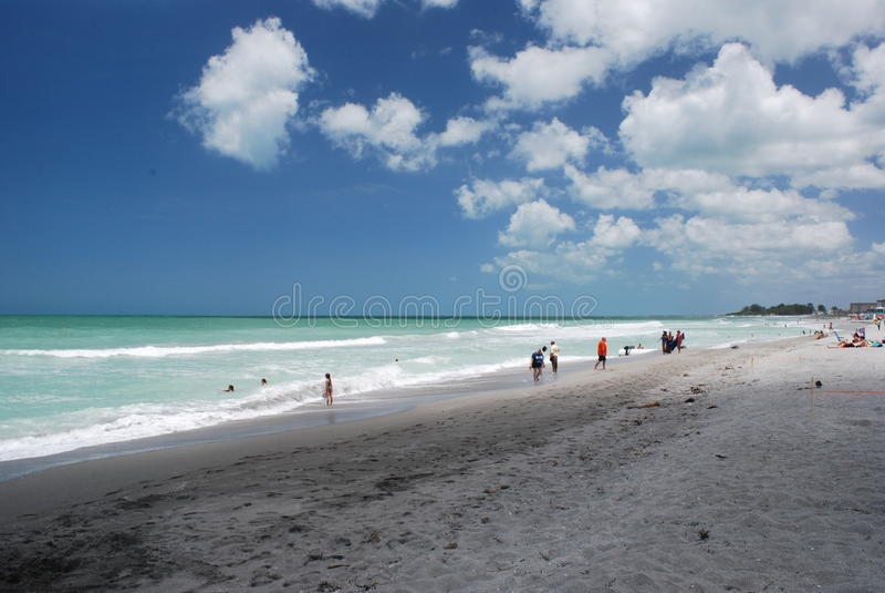 Praia de Veneza em Veneza Florida fotografia de stock