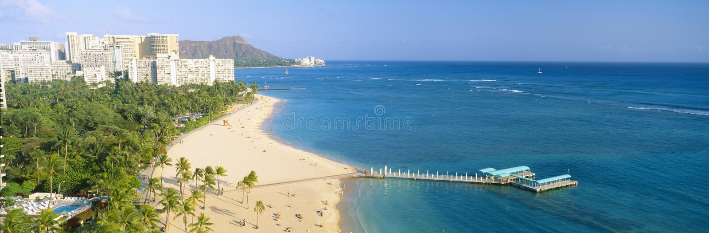 Praia de Waikiki imagem de stock royalty free