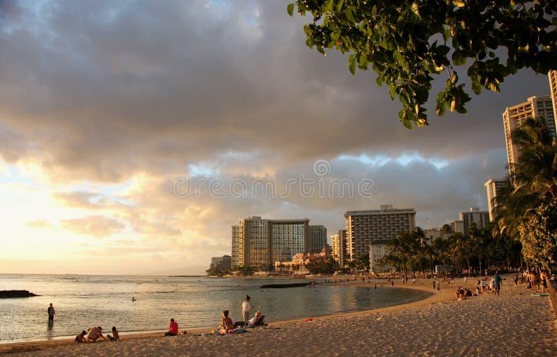 Praia de Waikiki fotos de stock royalty free
