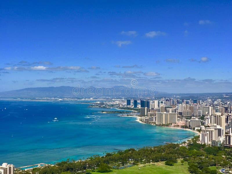 Praia de Waikiki, Havaí fotografia de stock