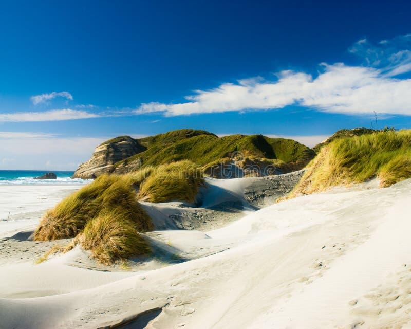 Praia de Wharariki imagem de stock