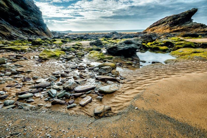 Praia de Whipsiderry foto de stock