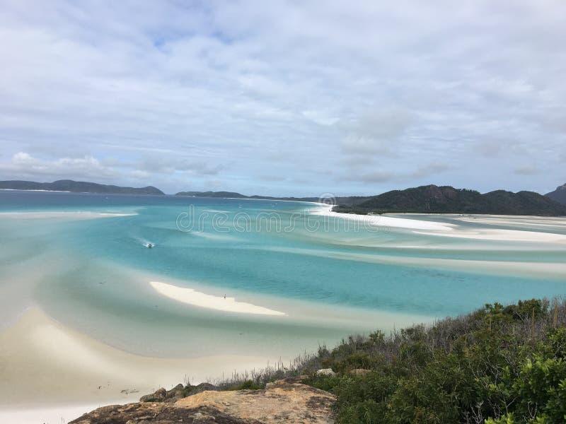 Praia de Whitehaven imagens de stock royalty free