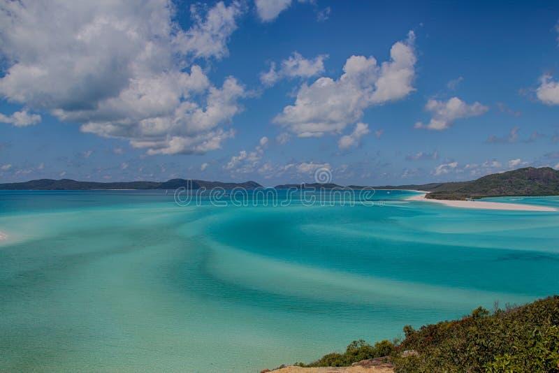 Praia de Whitehaven fotos de stock royalty free