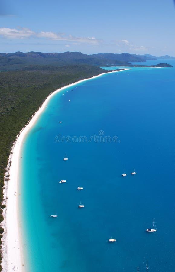 Praia de Whitehaven fotografia de stock royalty free
