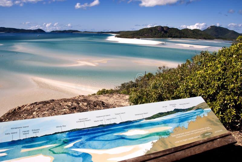 Praia de Whitehaven, Austrália fotografia de stock