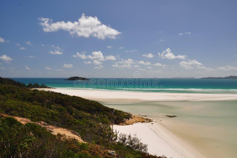 Praia de Whitehaven - consoles de Whitsunday fotos de stock royalty free