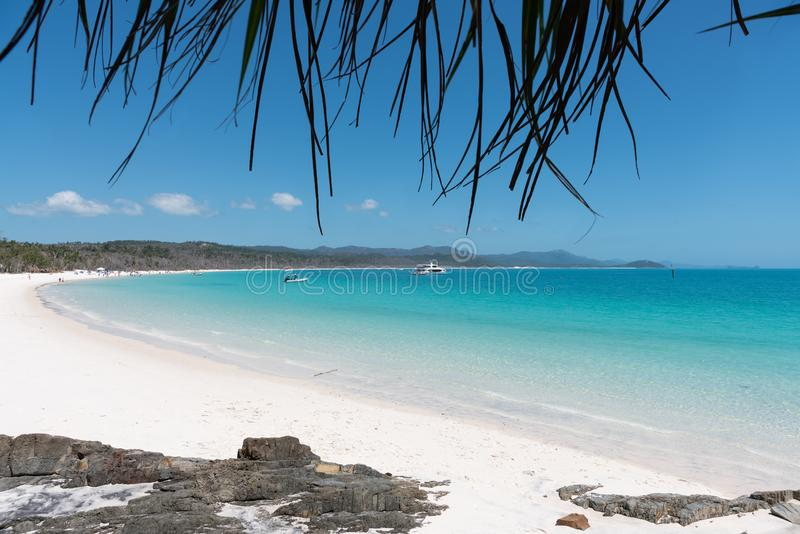 Praia de Whitehaven, Hamilton Island, Austrália foto de stock