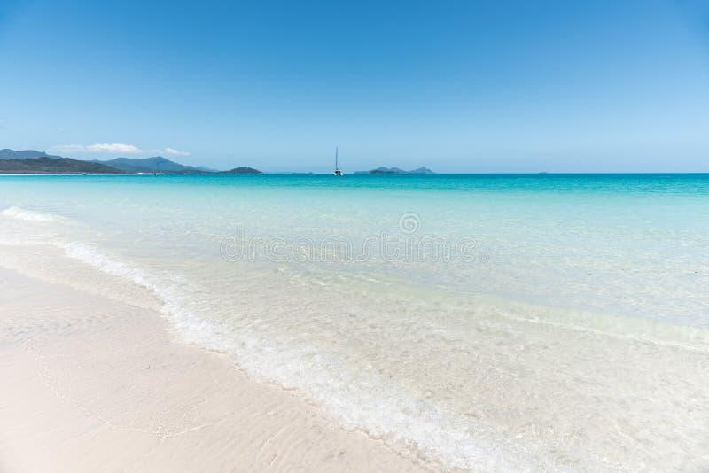 Praia de Whitehaven, Hamilton Island, Austrália imagem de stock royalty free