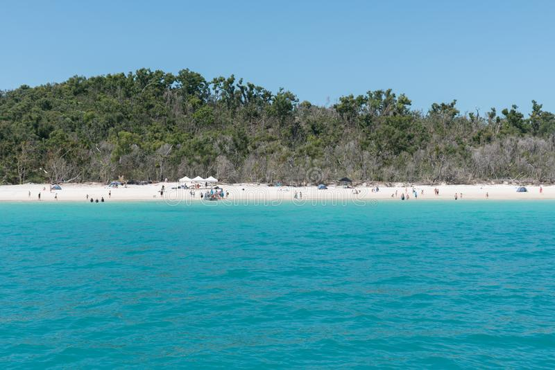 Praia de Whitehaven, Hamilton Island, Austrália fotos de stock