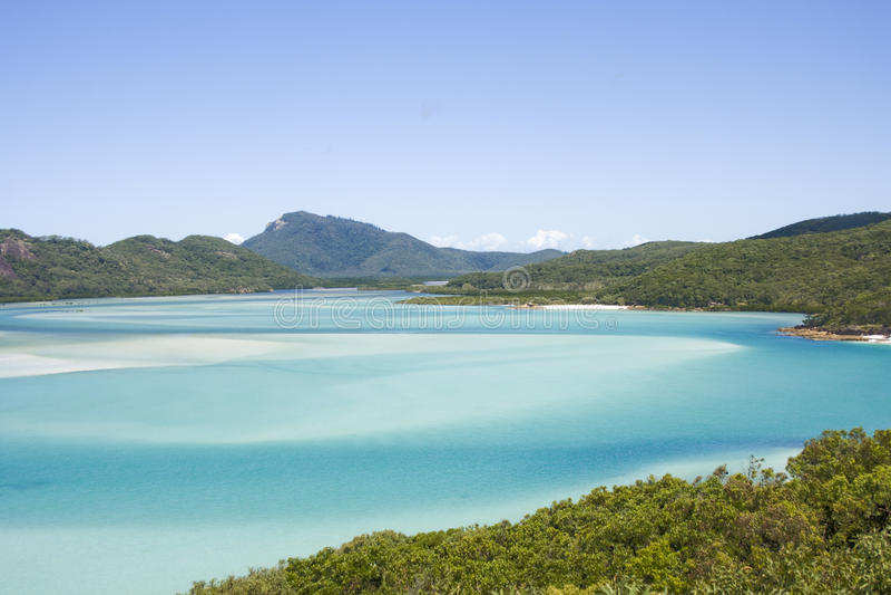 Praia de Whiteheaven imagens de stock royalty free