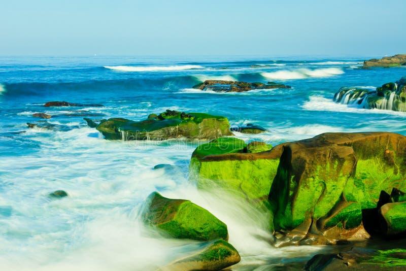 Praia de Windansea em La Jolla fotos de stock