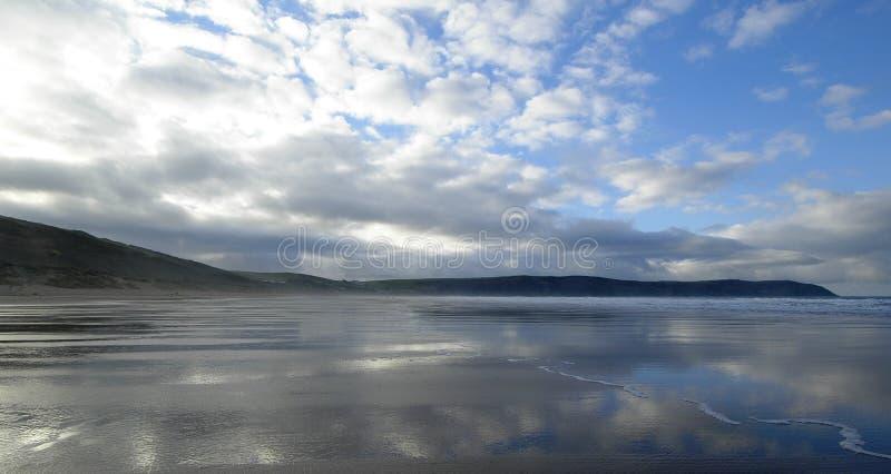 Praia de Woolacombe imagens de stock