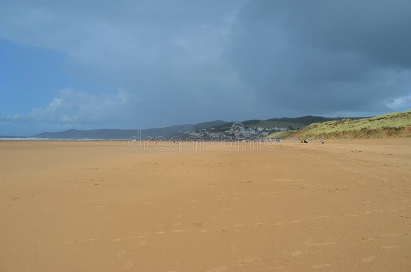 Praia de Woolacombe, Devon norte, Inglaterra foto de stock royalty free