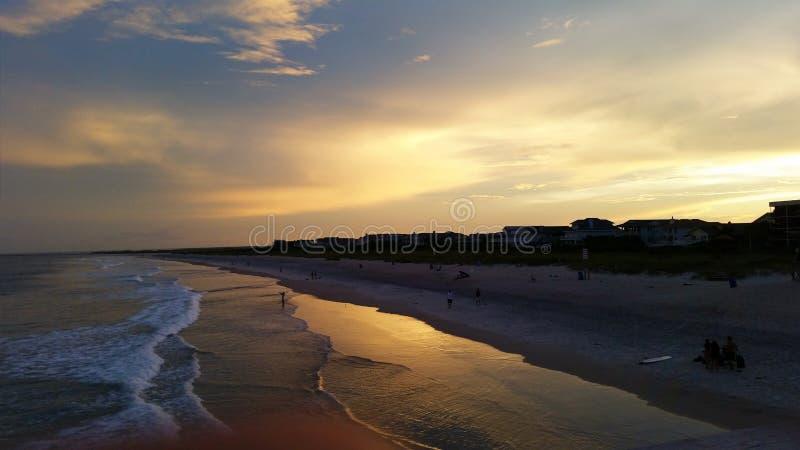 Praia de Wrightsville, NC imagens de stock