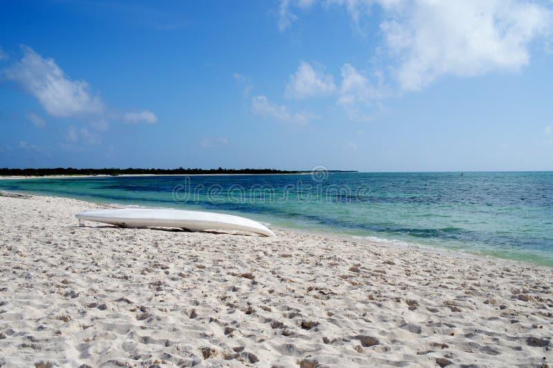 Praia desobstruída fotografia de stock