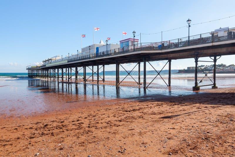 Praia Devon England de Paignton imagem de stock