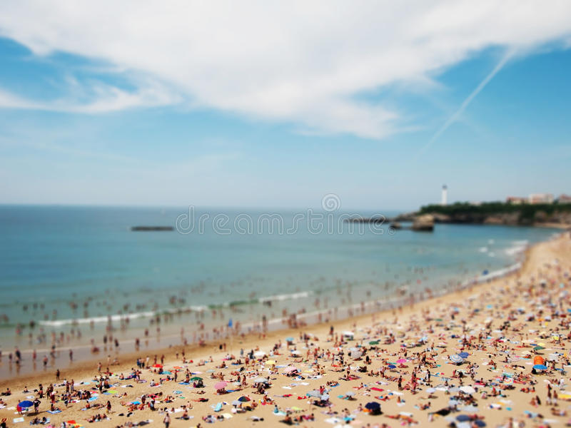 Praia diminuta fotografia de stock royalty free