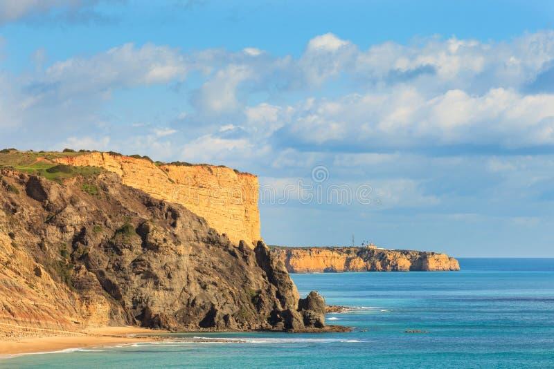 Praia a Dinamarca Luz, Lagos, o Algarve, Portugal foto de stock royalty free