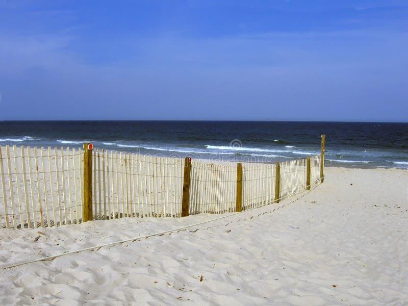 Praia Dividida Fotografia de Stock Royalty Free