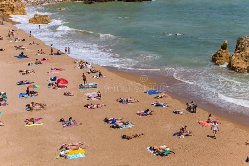 Praia doña Ana fotografía de archivo libre de regalías