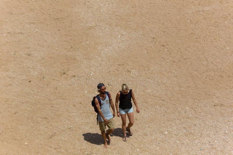 Praia doña Ana fotografía de archivo