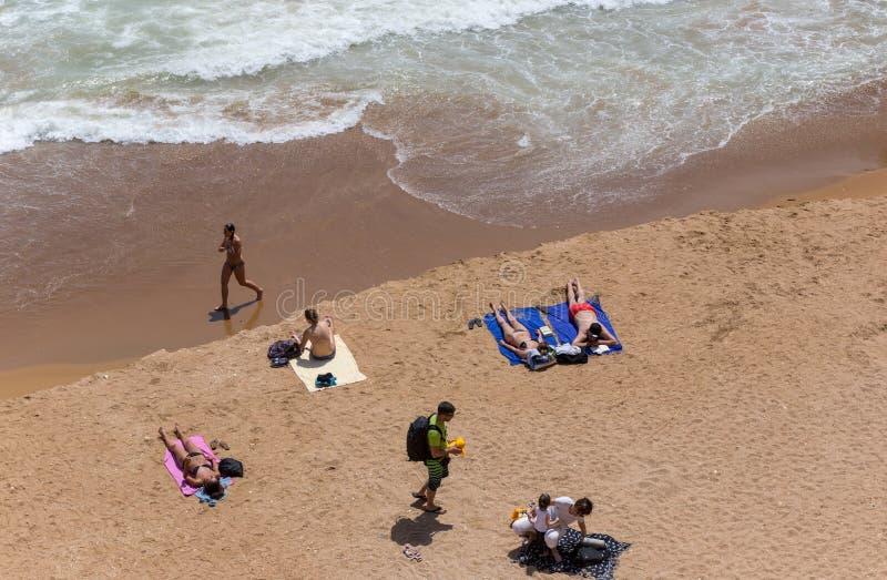 Praia doña Ana imágenes de archivo libres de regalías