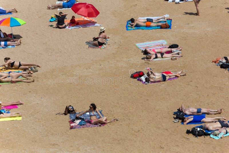 Praia doña Ana foto de archivo