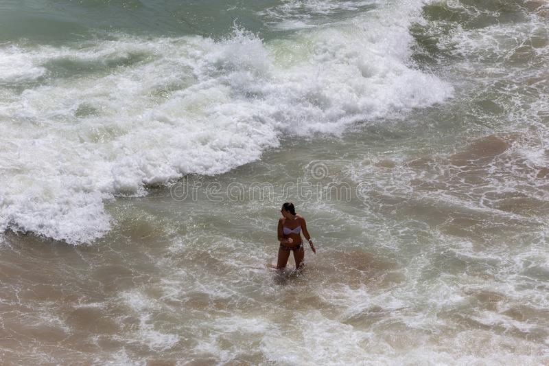 Praia doña Ana fotos de archivo
