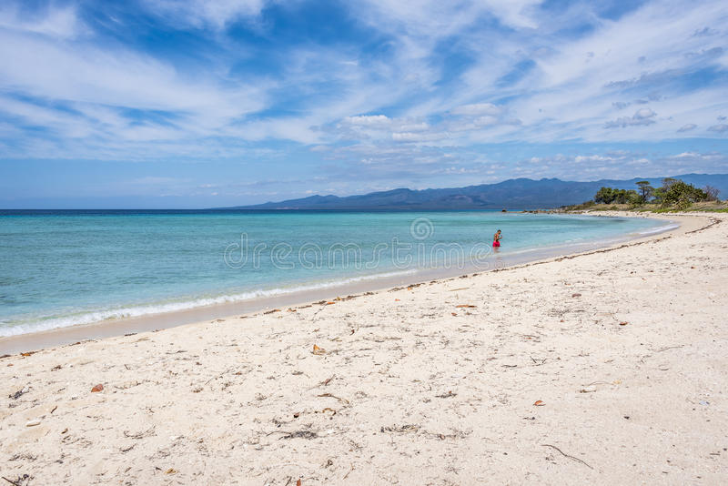 Praia do Ancon, Trinidad, Cuba fotografia de stock